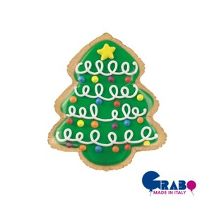 "[Grabo balloons] Christmas Tree Cookie 25""(63cm)"