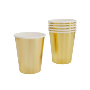 [Danoandchin] Metallic Gold Cups(6pcs)